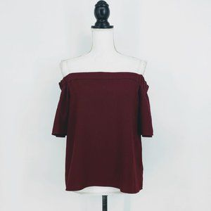 Active USA Off the Shoulder Top in Red